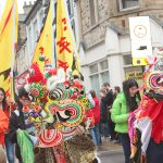 Qilins in the parade at Lancaster Chinese New Year Carnival 2016 | Hua Xian Chinese Society