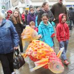 Fish lanterns in the parade at Lancaster Chinese New Year Carnival 2016 | Hua Xian Chinese Society