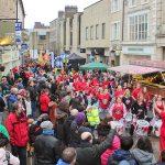 Market Street Parade with Batala at Lancaster Chinese New Year Carnival 2016   Hua Xian Chinese Society