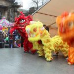 Lion Dance teams on the Lycamobile Stage at Lancaster Chinese New Year Carnival 2016 | Hua Xian Chinese Society